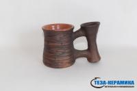 глиняная кружка ручной работы