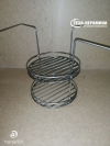 Этажерка 2 яруса для малого тандыра d 21 см / h 30  см. с дополнительным кольцом